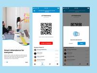 Attendance System ui ux mobile app