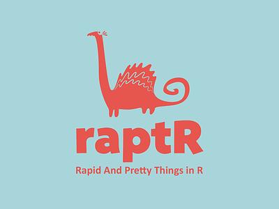 raptR, logo raptor dinosaur logo