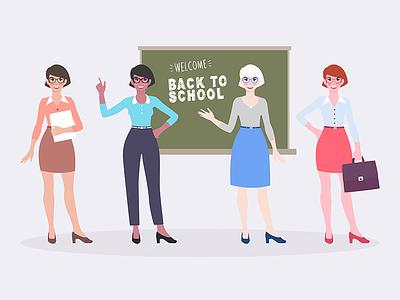 Teachers business secretary board school woman teacher