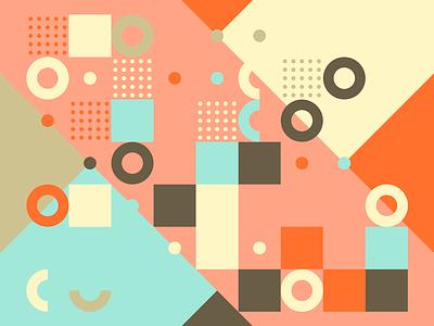 Generative pattern 06 color background random generative pattern