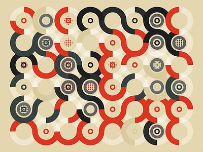 Generative pattern 18 color background random generative pattern