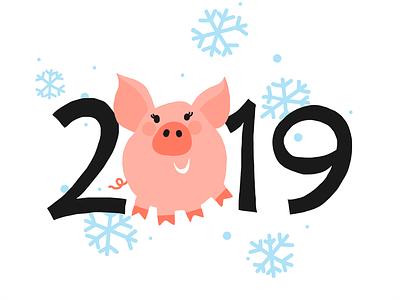 Piggy19 year snowflakes snow piggy pig new merry happy christmas 2019