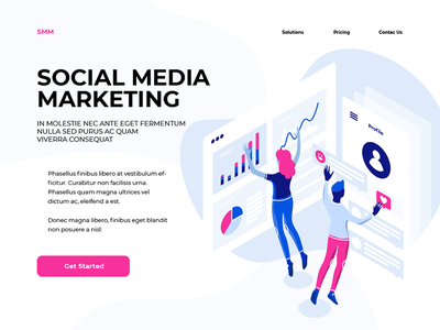 Social Media Marketing v2 optimization engine search woman teamwork team social smm people media marketing man