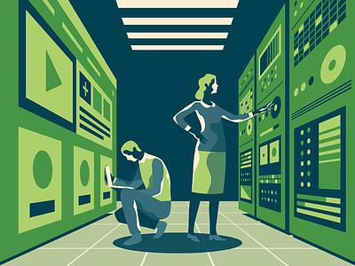Data Analysis engine female male woman man optimization search web media social rack cloud server teamwork seo smm analisis data team