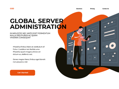 Server Administration male man rack admin server