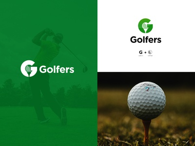 Logo Golfers typography design corporate branding branding design modern logo brandidentity branding golf ball golf logo logodesign