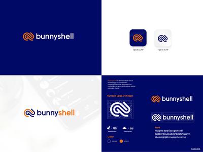Bunnyshell logo concept brandidentity bussines icon design corporate branding modern logo desainlogo branding design logo logodesign
