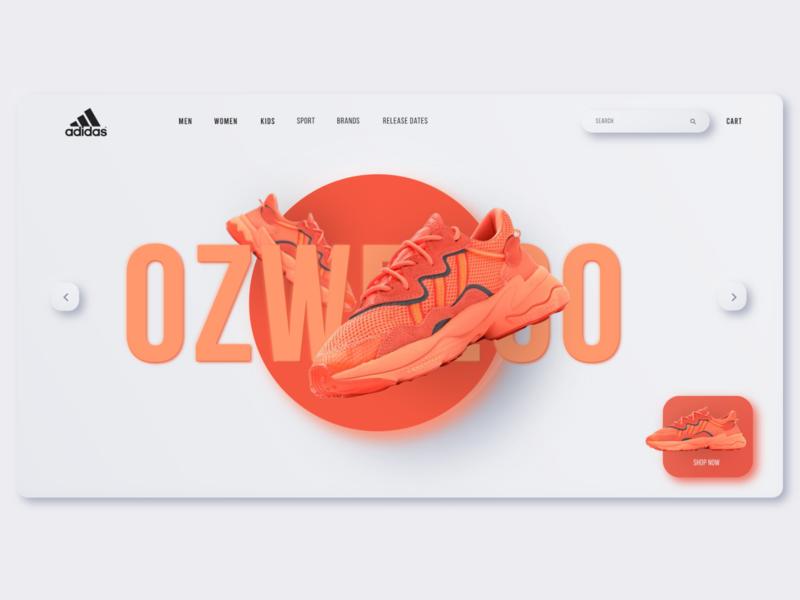 Adidas Neumorphism Landing Page