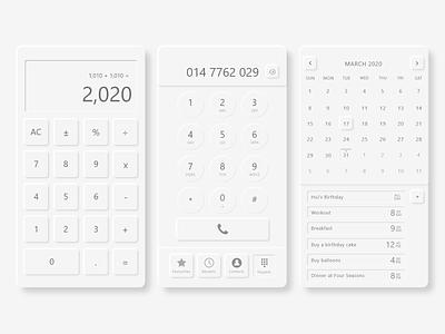 Neumorphism Utility Mobile Apps minimalist uidesign ui utility mobile app design mobile ui neumorphism neumorphic