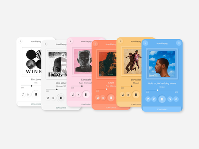 Music Player colors utility mobile ui minimalist uidesign ui neumorphic neumorphism music player music app