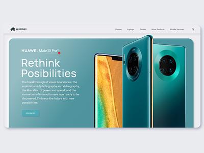 Huawei Landing Page Concept smartphone huawei product page homepage concept landingpage neumorphic neumorphism minimalist webdesign web uidesign ui