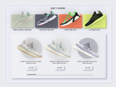 Product Display Concept adidas shoes product display product page mobile ui webdesign concept colors minimalist neumorphic neumorphism ui uidesign