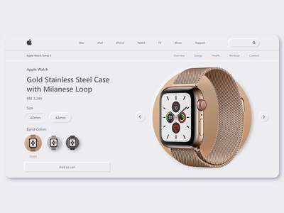 Apple Watch Product Page Concept apple product page concept colors webdesign uidesign ui neumorphism neumorphic minimalist