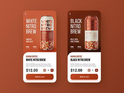 Coffee Shop App - Kapah Coffee graphic design branding ecommerce cafe coffee shop beverage app app design mobile app ui design ux design interface design coffee app design minimalist ui
