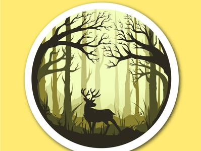 Woods forest illustraion nature illustration imagination design