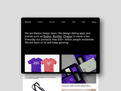 Team site layout branding animation ui clean black logo design web principle