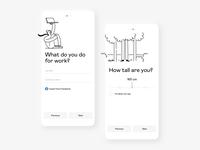Profile completion ux clean illustration concept app ui