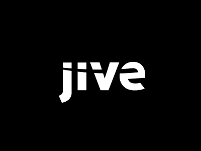 Jive Software Logo Design -- In pure form typography jive software logo raja black white branding one color simple type corporate identity big start-up 1 0