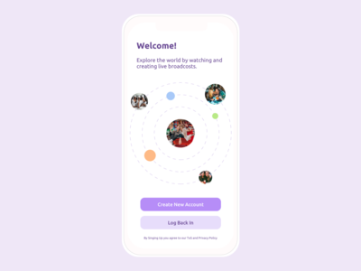 Welcome Screen design daily ui dailyui