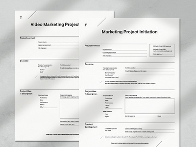 Project Initiation Form
