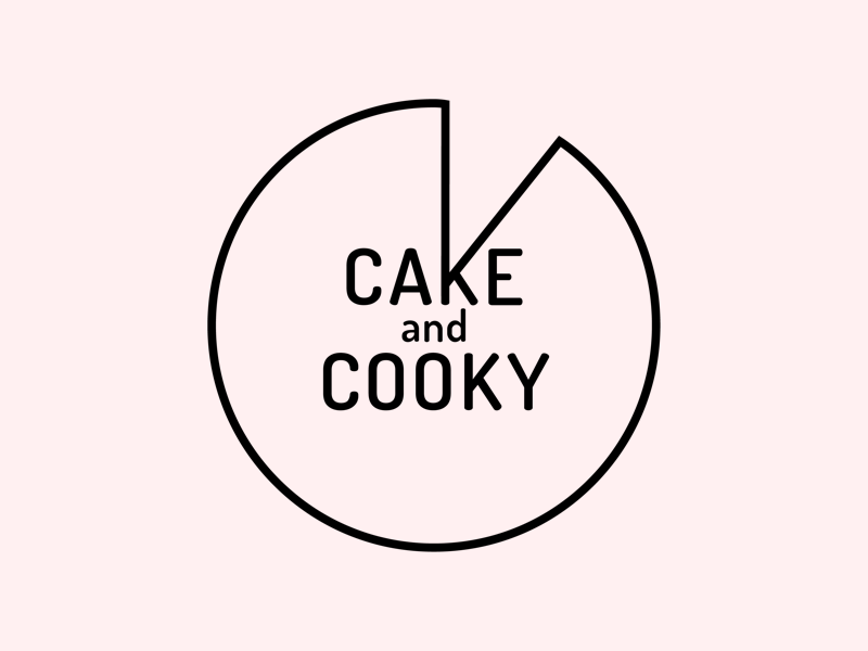 Cake and Cooky Logo bakery food pie cookie cake logo