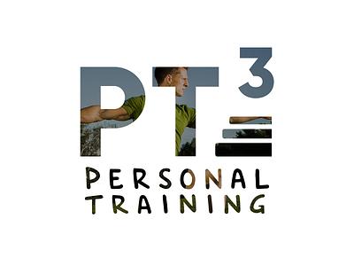 PT³ - Personal Trainer Logo identity logo handwriting personal trainer sport pt