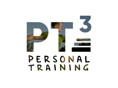 PT³ - Personal Trainer Logo identity logo handwriting personal trainer sport pt