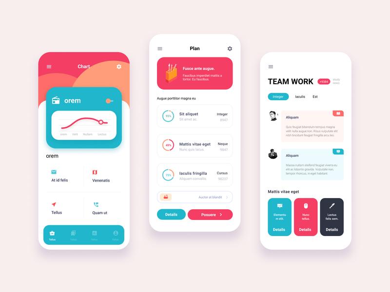 App design-Plan coloful friendly flat icon illustration vector app ux ui design