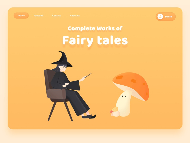 Web design-Fairy tales flat friendly illustrator illustration vector ux ui design