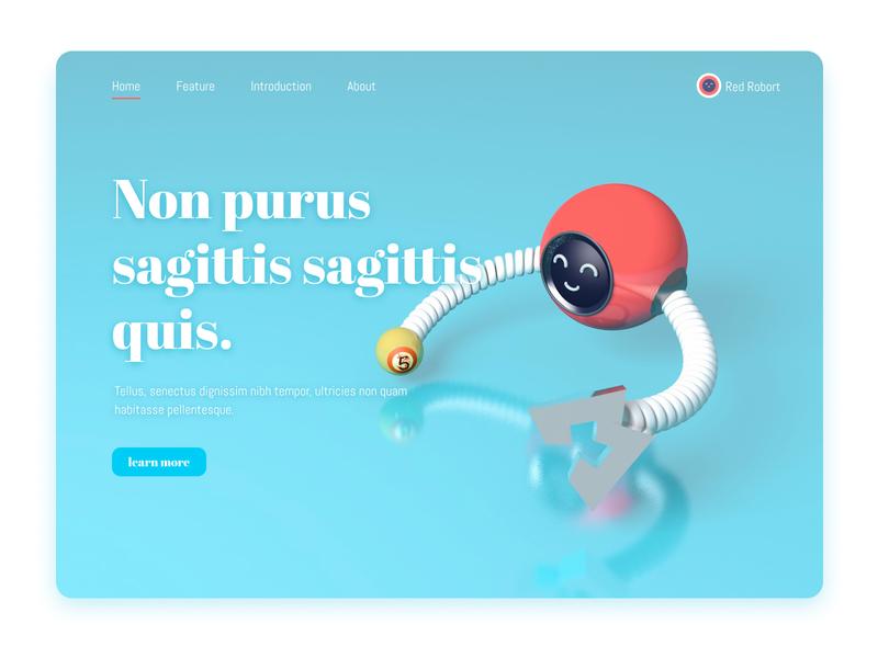 Web Page Design-C4D robot clean c4d