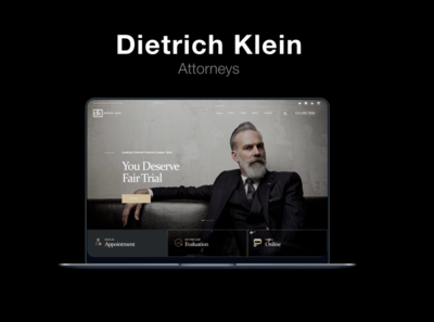 Attorney   Dietrich Klein 2  MOCKUP Laptop lawyer local business prototype attorney laptop mockup