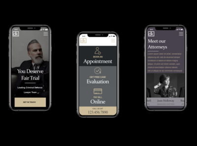 Attorney   Dietrich Klein 3  MOCKUP Mobile business prototype local lawyer attorney