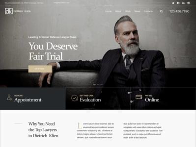 Attorney   Dietrich Klein design prototype local lawyer business attorney