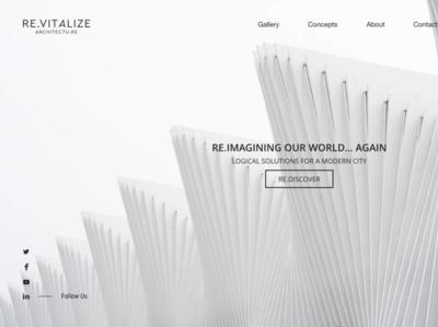 ReVitalize Architrecture minimalist architecture website prototype design local business
