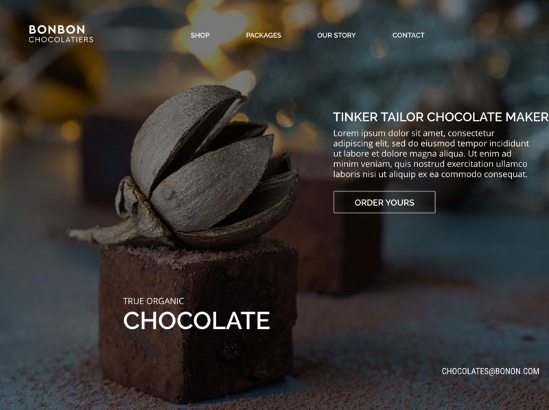 BONBON Chocolate minimal simple elegant local business smb local design prototype business