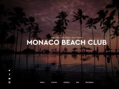 Monaco Beach  Club minimal simple elegant local business design local prototype business club