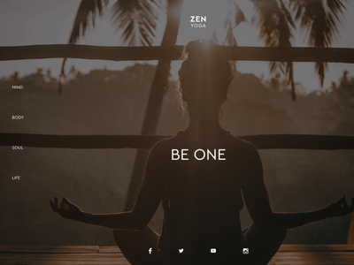 ZEN YOGA spiritual simple minimal elegant design local prototype business yoga
