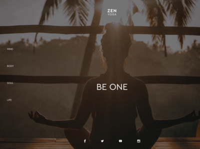 ZEN YOGA spiritual simple minimal elegant design local prototype business yoga