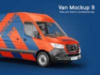 Mercedes Sprinter Van Mockup model 2019