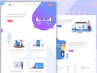 Landing Page of Marketing Website Ui Design