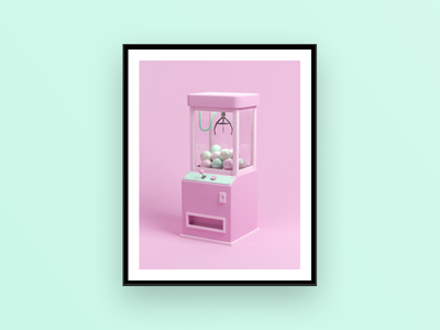 Grab Me If You Can claw toy grabber toy automat grabber digitalart 3dart blender