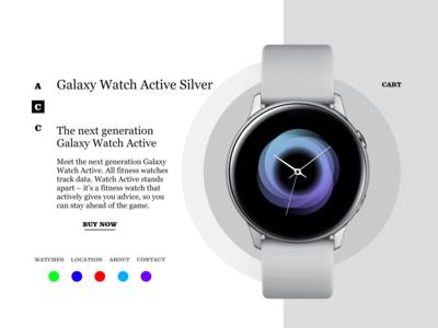 Watch Shopping Website Design