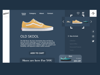 Robins Shoes Shopping Center Website Design