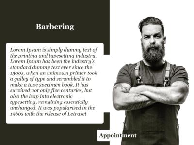 Barbering Web Design