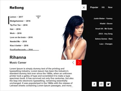 ReSong UI UX Design