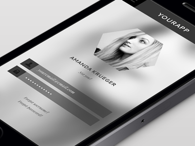 Matte Black Log In Screen (Theme) ui ux graphic design mobile design app design black matte white image image background