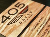 405 Decks Business Cards