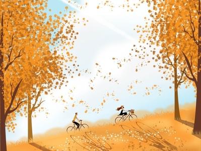 Summer Fields digitalillustration digital design digitalart vector dailylife love country couple minimal illustrator illustration flat design