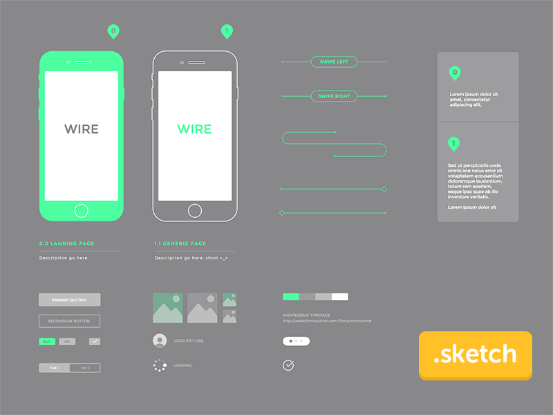 Wireframe iphone preview