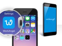 WorkAngel logo & splash